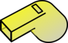 Yellow Whistle Clip Art