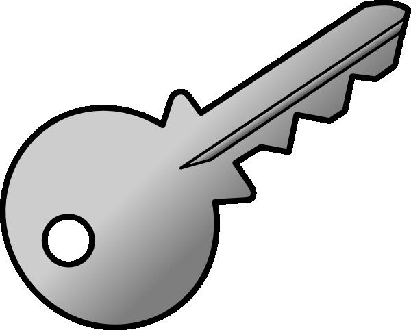 grey shaded key clip art at clker com vector clip art online rh clker com clipart keys and locks clip art keys free