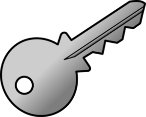Grey Shaded Key Clip Art