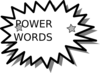 Power Word Card Clip Art