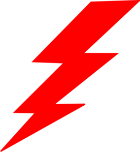 Lightning-red Clip Art at Clker.com - vector clip art online, royalty ...