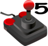 Joystick Five Clip Art