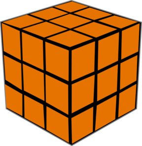 Olap Orange Cube Clip Art