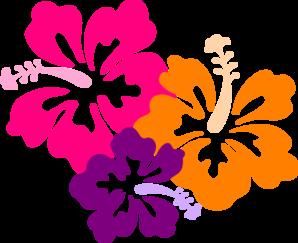hibiscus color trio clip art at clker com vector clip art online rh clker com Luau Flowers Clip Art Clip Art of Flower Bouquets