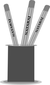 Pencil Stand Clip Art