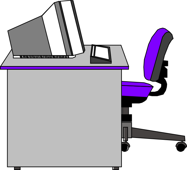 office desk clip art at clker com vector clip art online royalty rh clker com clip art office supplies clipart office worker