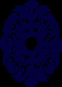 Paisley Navy Clip Art at Clker.com - vector clip art online, royalty ...