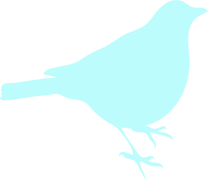Sea Foam Blue Bird Clip Art