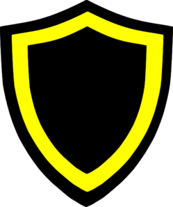 Black And Yellow Shields Clip Art