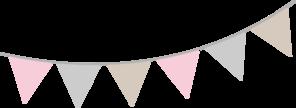 Pink Gray Tan Bunting Clip Art at Clker.com - vector clip art online ...