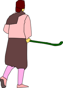 Girl Playing Hockey Clip Art