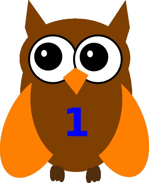Orange Owl Birthday 1 Clip Art at Clker.com - vector clip ...