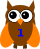 Orange Owl Birthday 1 Clip Art