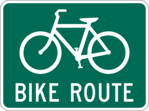 Bike Green Sign Clip Art