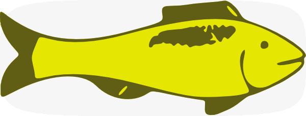 Yellow Fish Clip Art at Clker.com - vector clip art online ...