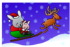 Reindeer Flying Clip Art