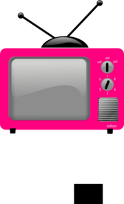 Pink Old Tv Clip Art
