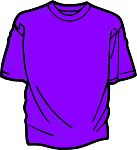 T-shirt-purple Clip Art