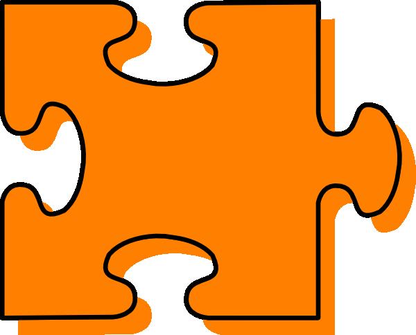 Orange Puzzle Piece Clip Art At Clker Com Vector Clip