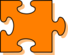 Orange Puzzle Piece Clip Art