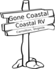 Gone Coastal Sign Clip Art