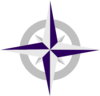 Purple Compass Rose Lt Clip Art
