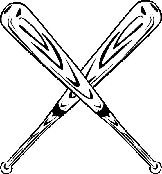crossed bats clip art at clker com vector clip art online royalty rh clker com crossed baseball bats clipart crossed softball bats clipart
