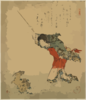 Kayuzue: The Sage Kōshohei Turning A Goat Into Stone. Clip Art