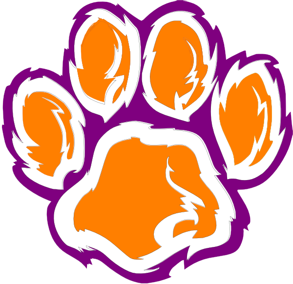 tiger paw clipart