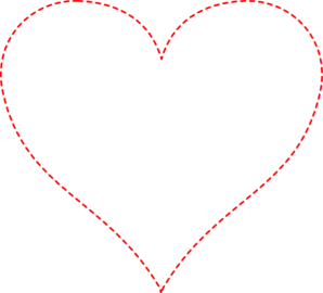 Stitched Red Heart Clip Art