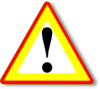 Red Yellow Warning Clip Art