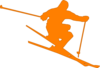 Orange Skier Clip Art