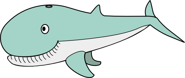 Whale Cartoon Clip Art at Clker.com - vector clip art online, royalty ...