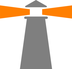 Lighthouse Grey-orange Clip Art