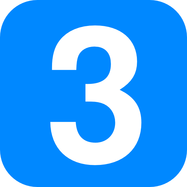 Number 3 In Light Blue Rounded Square Clip Art At Clker