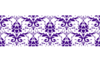 Purple Damask On White Clip Art