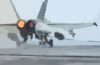 An F/a-18c Hornet Assigned To The Argonauts Of Strike Fighter Squadron One Four Seven (vfa-147) Makes An Arrested Landing Clip Art