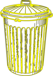 Yellow Can Clip Art
