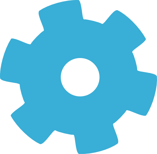 Blue Gear Wheel Clip Art At Clker Com Vector Clip Art