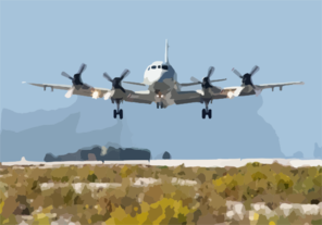 A Navy P-3c In Souda Bay, Crete, Greece Clip Art