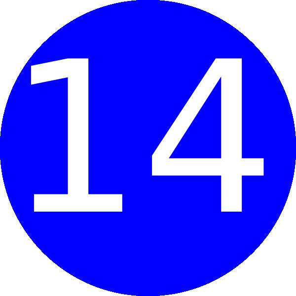 Number 14 Clip Art