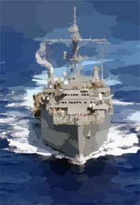 An Aerial Photo Of The Amphibious Transport Ship Uss Dubuque (lpd 8) Clip Art