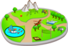City Park: Various Activites Clip Art