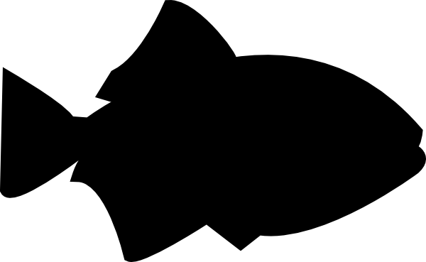 Fish Outline Black Filled Clip Art at Clker.com - vector clip art ...