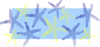 Blue & Yellow Starfish Clip Art