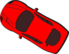 Red Car - Top View - 150 Clip Art