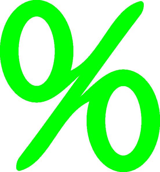 green percent clip art at clker com vector clip art online