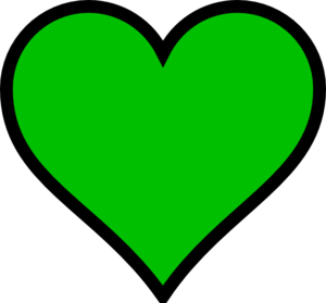 Green Heart Or Clover Leaf  Clip Art