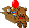 Box Full Of Toys Clip Art