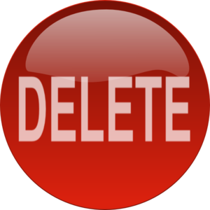 Red Delete Button Clip Art